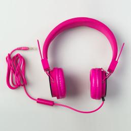 earphones-pink